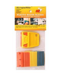 Scraperite 25 blade Variety Pack plastic razor blade safety scrapers with Lil Gripper holder